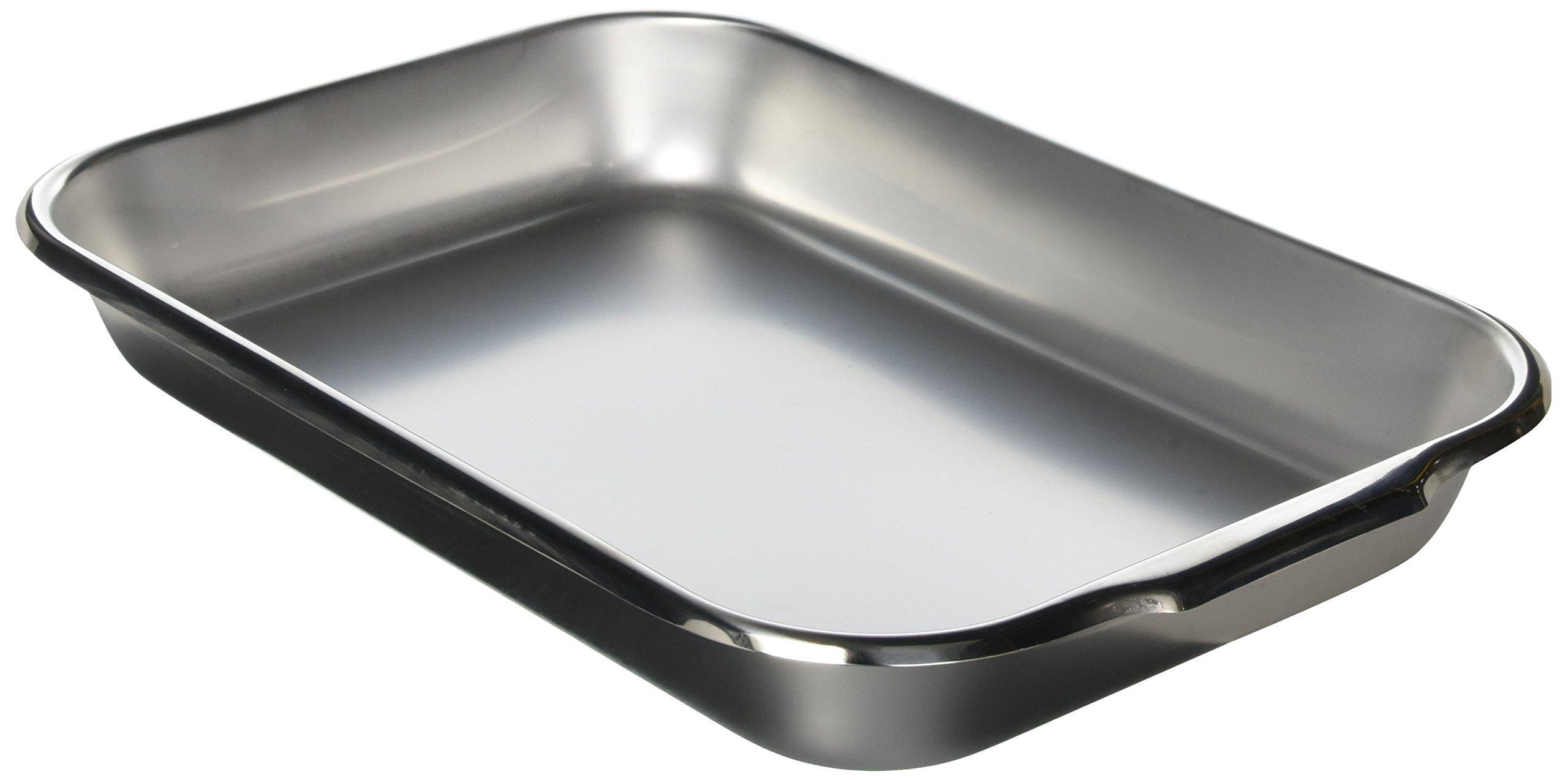 Vollrath 61230 3.5-Quart Bake Roast Pan, 14-7/8 x 10-1/4 x 2-inch, Stainless Steel, NSF