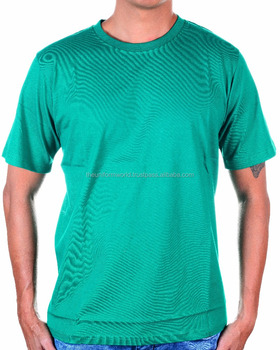 8108f5480 Promotional Round Neck T Shirt Plain Blank Green Cotton For Unisex, Men and  Women Fitting