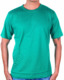 Promotional Round Neck T Shirt Plain Blank Green Cotton For Unisex, Men and Women Fitting Work Wear