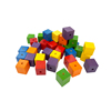 Hot Sale 25mm 6 colors- Wooden Cube beads/ Lacing Beads /math puzzles brain teasers