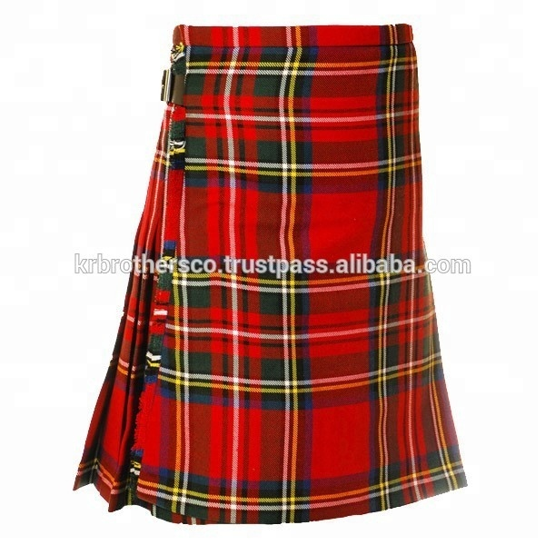 Mannen Schotse Royal Stewart Traditionele Familie Tartan Clan Kilt 5 en 8 Yards