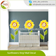 Sunflowers Vinyl Wall Decal Print Yellow Flowers Bedroom Sticker