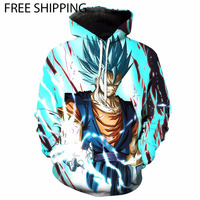 SUPER SAIYAN VEGITO DRAGON BALL Z HOODIES SUBLIMATION HOODIES