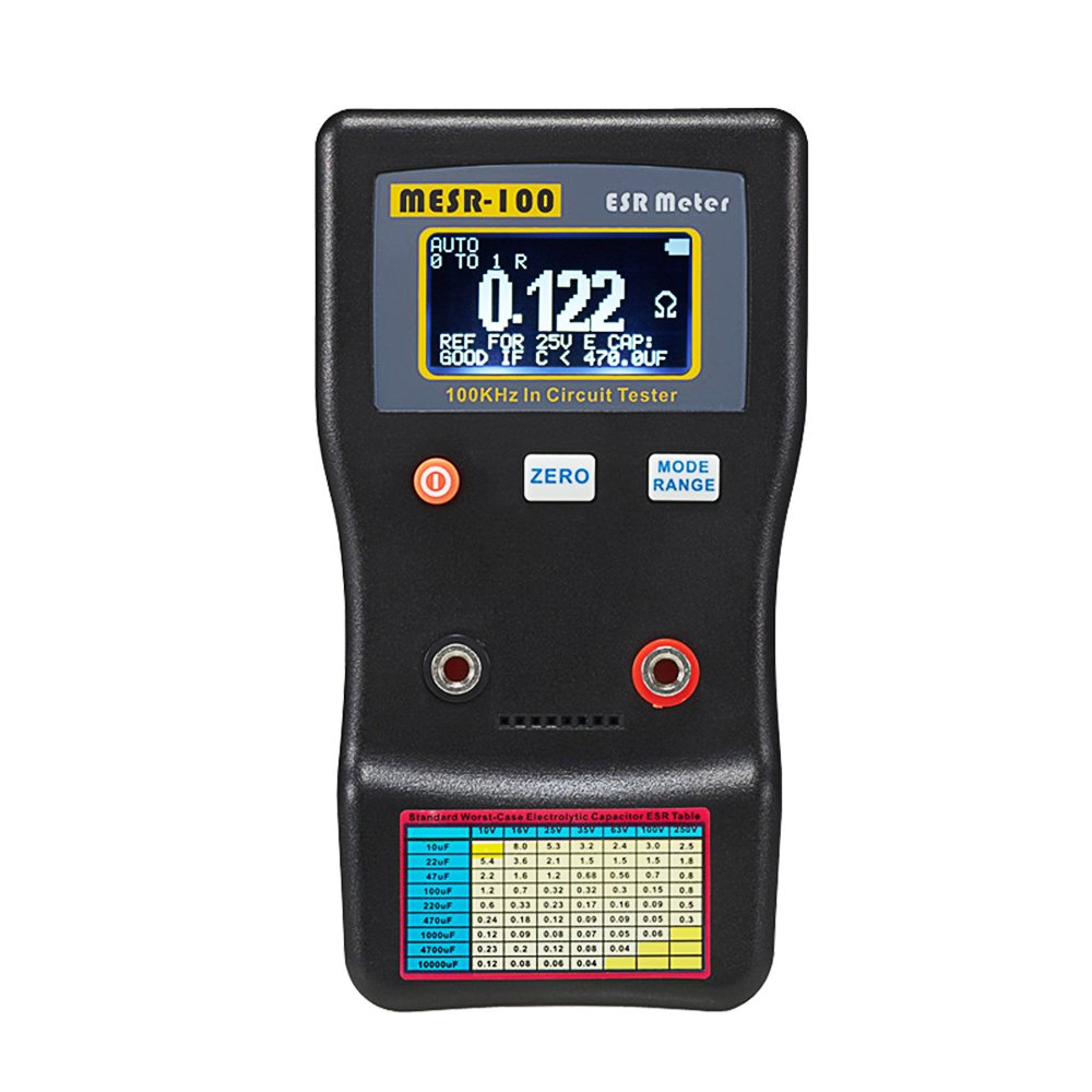 Signstek MESR-100 V2 Auto Ranging in Circuit ESR LCR meter Capacitor/Low Ohm Meter Up to 0.01 to 100R, Support in Circuit Testing