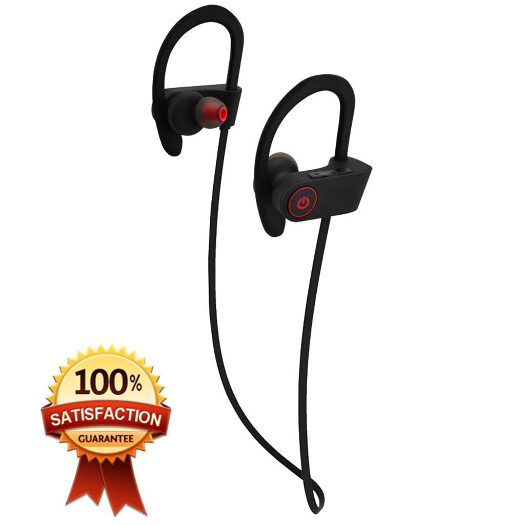 a7acf5ee7a6 Bluetooth Headphones Wireless Sports Headphones Earphones w/ Mic Waterproof  Wireless Earbuds Sport Headphones Stereo Noise