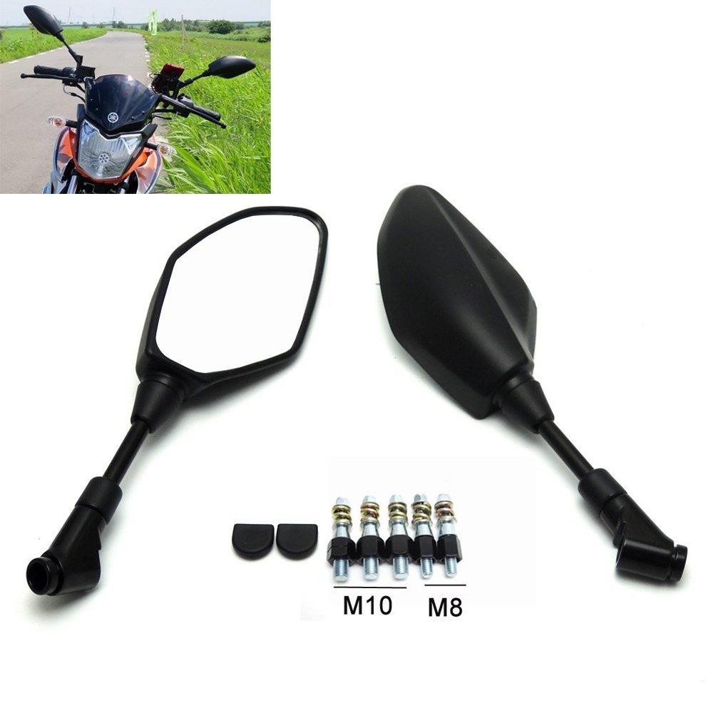 Z10 Motorcycle YAMAHA black mirrors Riser Extension Brackets Adapter 1 pair 10mm