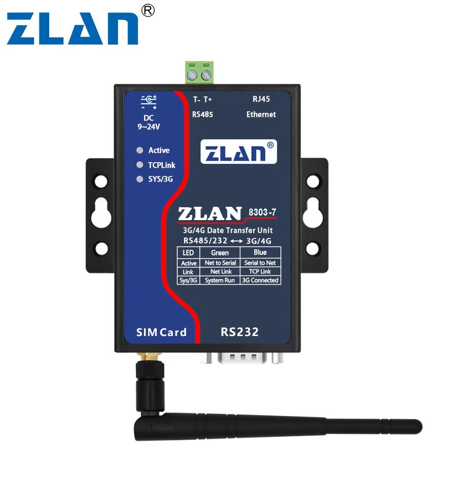 Zlan8303n-7 3g 4g Dtu Serial Port Rs232 Rs485 To 3g/ 4g Converter Gsm Sim  Card Modem Router Modbus Gateway P2p - Buy Gsm Modem Modbus,Serial Port