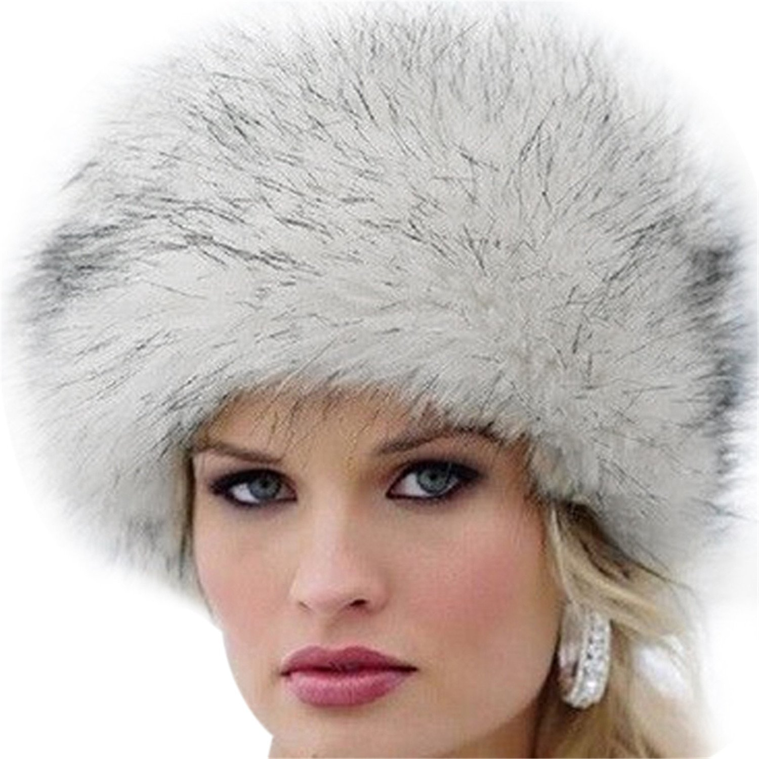 f2ff0a9904c Get Quotations · Miki Da Unisex NEW Winter Warm Faux Rabbit Fur Hat Russian  Style Mens Womens Cossack Caps