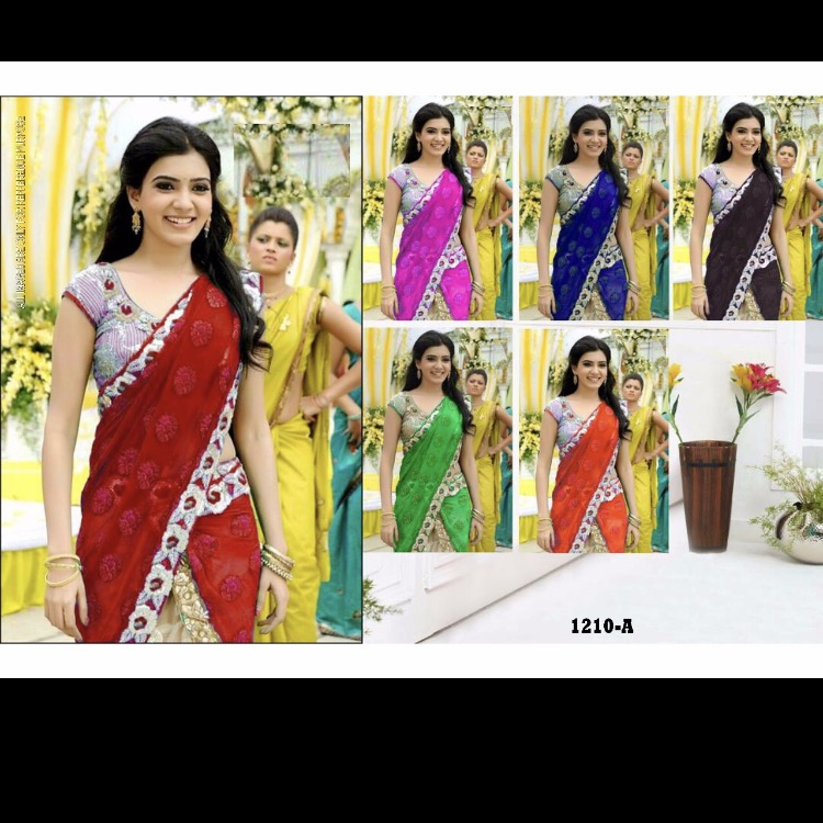 New Latest 2017 Heavy Embroidery Work And Fancy Look Or Partywear Saree Buy Designer Sarees Images Embroidery Saree Designs Style Designer Saree Product On Alibaba Com