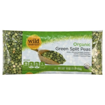 Wild Harvest Organic Split Green Peas Bag 1lbs