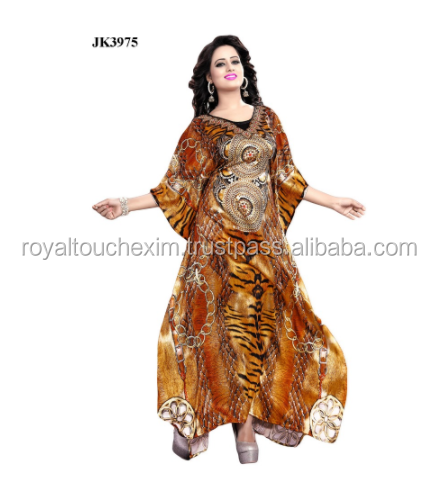 Women's Golden Colour Amazing 3D Printed Kaftan / Latest Kaftan Collection 2016 / Exclusive Animal Skin Kurta designs for Women