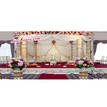 South Indian Wedding Mandap Fiber Dev Pillars Wedding Mandap Simple