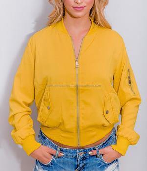 Women Yellow Bomber Jacket Girls Net Wear Bomber Jacket 2017 The