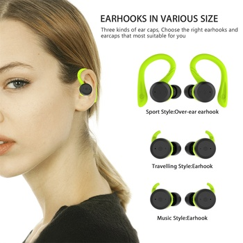 Amazon best seller tws earbud Bluetooth 5.0 IPX7 waterproof Earhooks with charging case