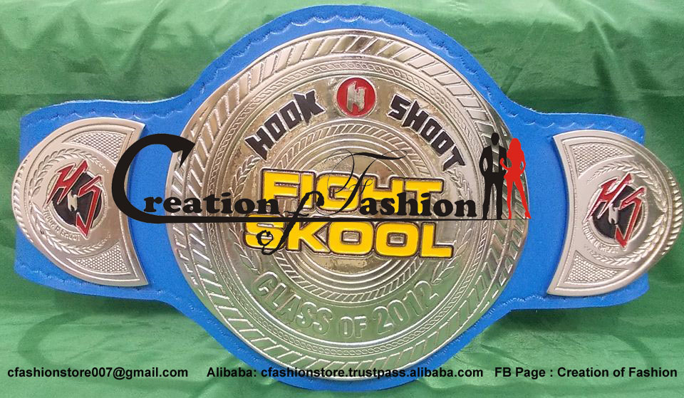 BB-138 Gold Custom Championship Title Belt Football Pro Am Belts