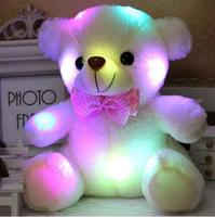 wholesale promotional low price plush led glow teddy bear/stuffed 6 colors free sample plush Glowing Luminous bear doll toy