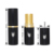 Fashion black empty round lipstick tube with gold collar
