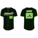 Custom Sublimation V neck Baseball Jerseys Softball Team Wear