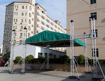 Steel Round Roof Truss Design Aluminum With Wings Led Lighting Stage