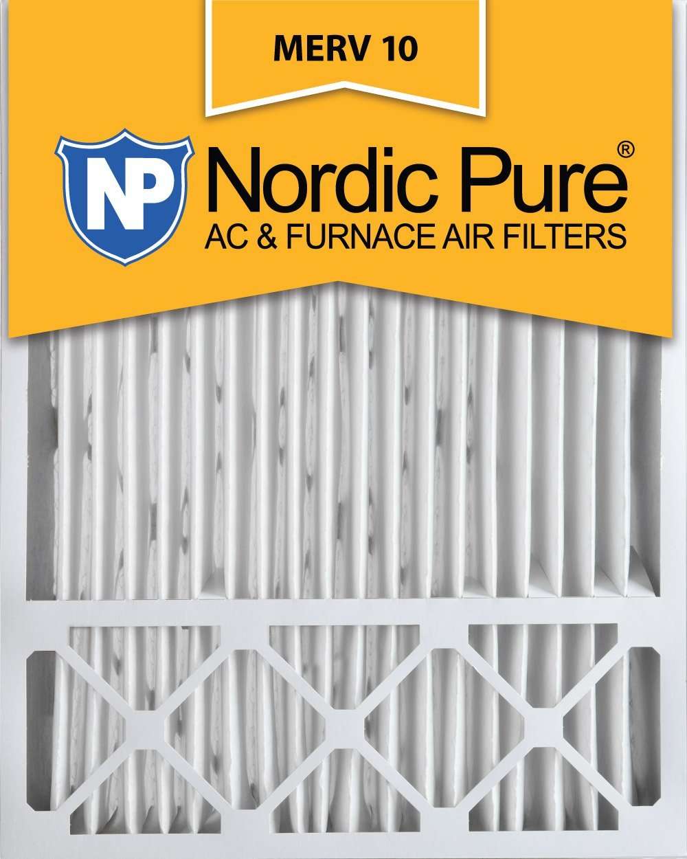 Nordic Pure 20x25x5 (4-3/8 Actual Depth) Lennox X6673_X6675 Replacement MERV 10 Pleated AC Furnace Air Filter, Box of 4