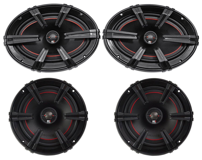 "(2) MB Quart XK1-169 X-Line 6x9"" 200w Car Audio Speakers+(2) 6.5"" 2-Way Speakers"