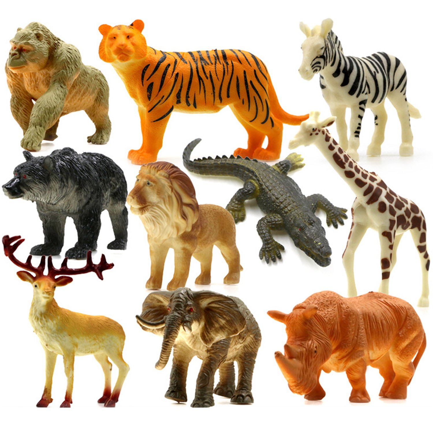 Animals Figure54 Piece Mini Jungle Animals Toys Set With Gift Box Realistic Wild Making Things Convenient For Customers Animals & Dinosaurs