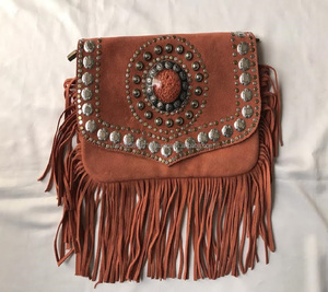 Gorgeous Handmade Moroccan Suede Leather Studded Bag