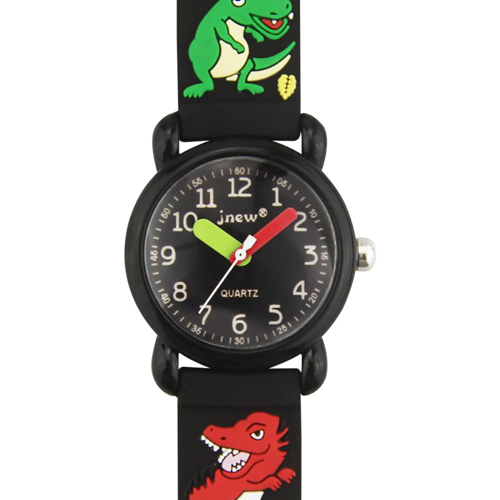 TIDOO Kids Watches Cute Cartoon 3D Dinosaur Band Waterproof Watch for Little Boy Learning Time