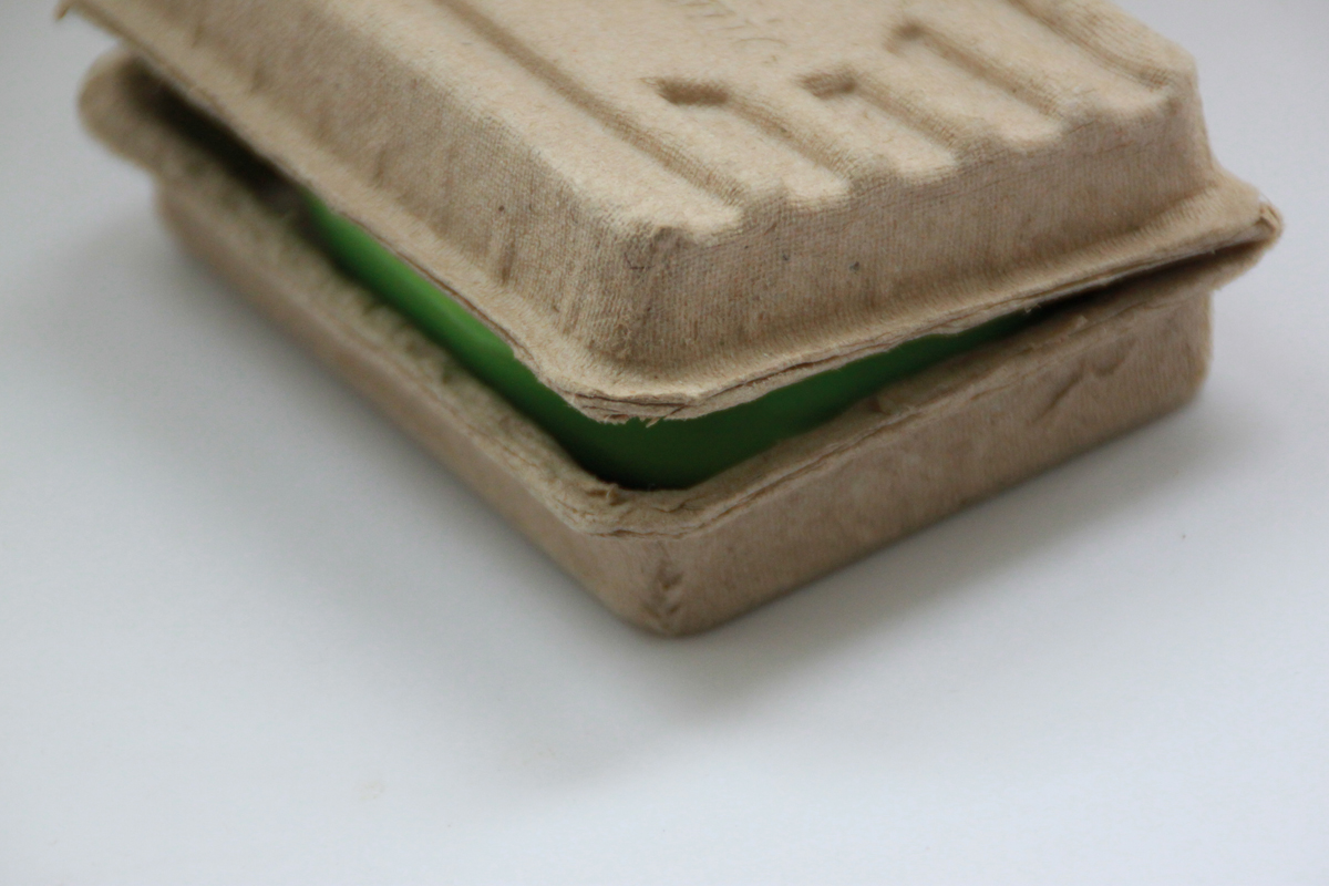 Recycled eco friendly custom brown soap packaging