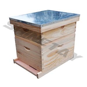 Beekeeping Wooden Bee Hive Box Double Layer Beehive Langstroth Bee Hive