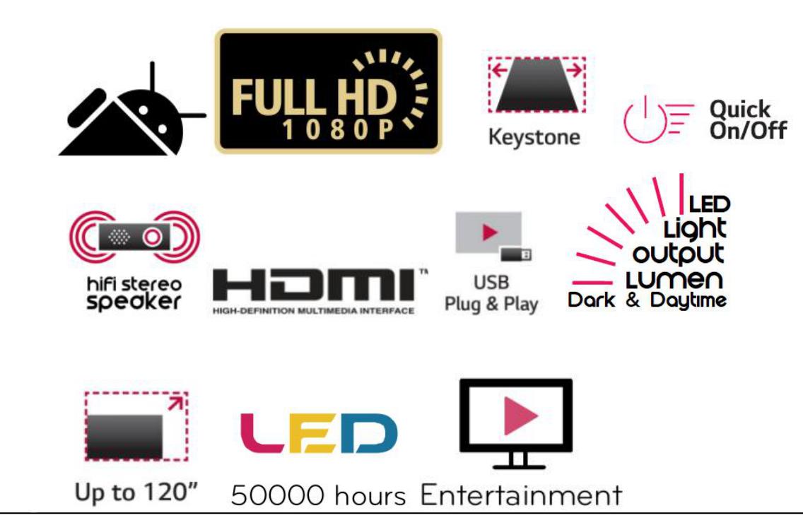 VIVIBRIGHT projector F40UP 4200Lumens 1920*1080p FULL HD 1080P video projector wifi beamer