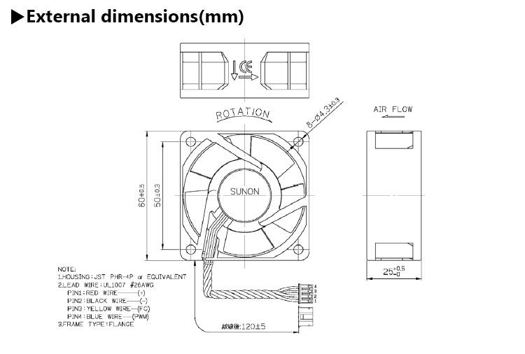 Sunon Pwm 6025 60x25 60mm 60x60 60x60x25 Mm 12v Dc High
