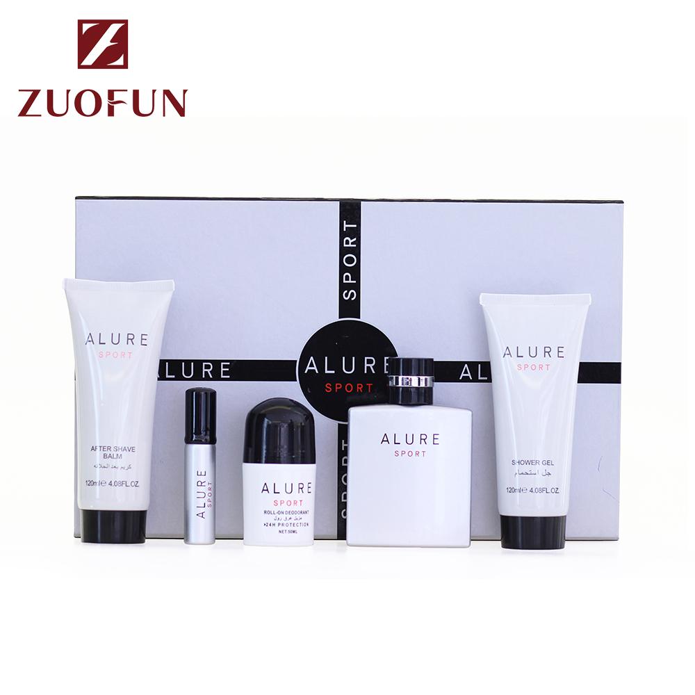 Guangzhou Zuofun Voorraad Groothandel Sport Soort Luxe Geur 100 ml + 15 ml Parfum Set