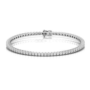 Real Natural Diamond Tennis Bracelet Solid 18kt Yellow White Rose Gold For Unisex 18cm length