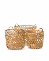Bamboo basket weaving in style handicrafts/bamboo laundry basket in home and decoration