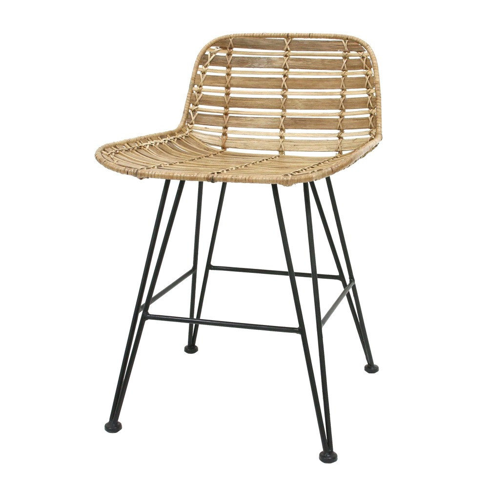 Madjene Traditional Wicker Rattan Stool Dining Room Home Luxury Hotel Furniture 5 Star Traditional Set