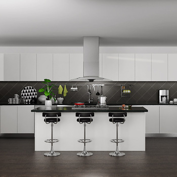 Oppein White Color Theril Cabinet Doors Stylish Kitchen Cabinets