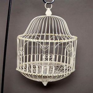 white home decorative metal hanging bird cage