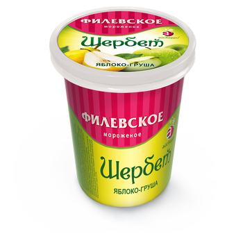 FILYOVSKOYE ICE CREAM SHERBET APPLE-PEAR