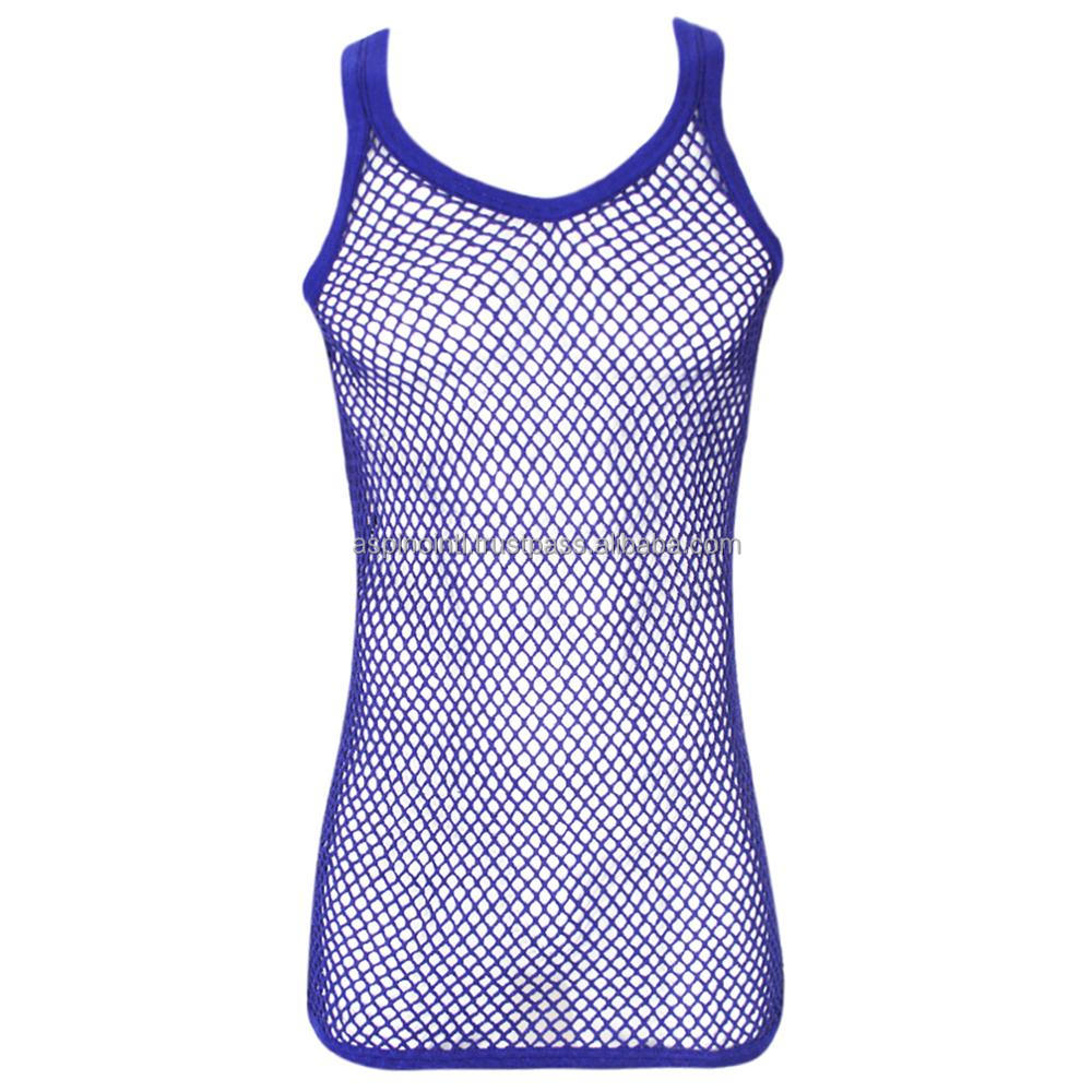 d41def537b2ae8 String Vest Mesh Fishnet Cotton Rasta Tank Top Vest Black White Green Red  Yellow - Buy White Cotton Loose Vest Tops Mesh