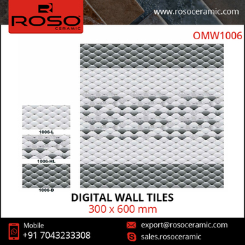 300X600 Highlighter Bathroom Wall Digital and Kitchen Ceramics Wall Tiles