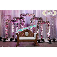 New Floral and Candle Wall Backdrop Wedding Ceremony Flower Backdrop Decoration Metal Candle Wall Backdrops Manufacturer