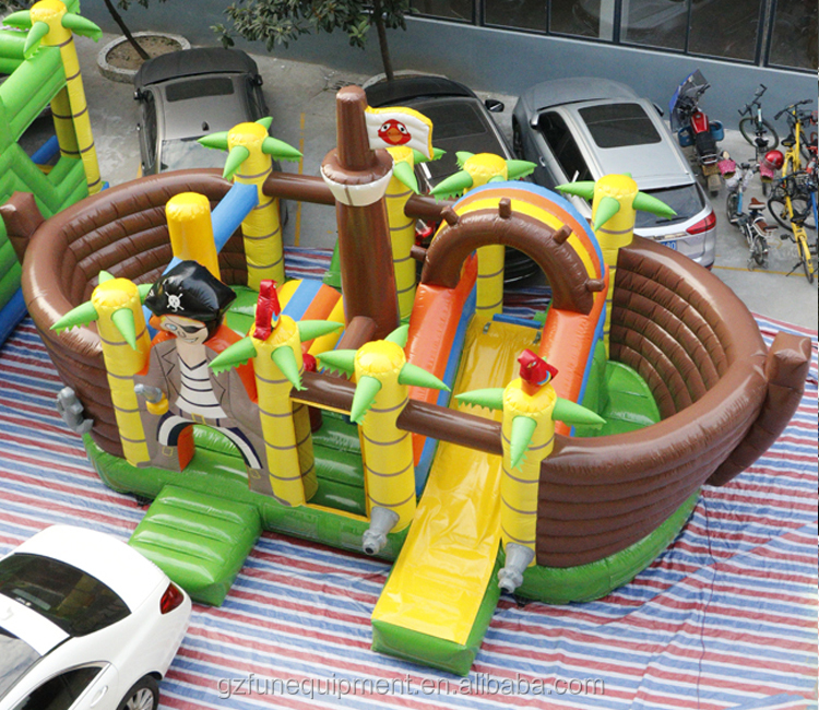 Outside Inflatable Playground Inflatable Fun City Amuesement Park For Sale