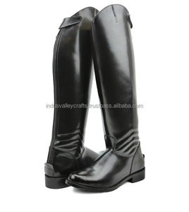 Ladies DECENT Dress Dressage Boots With Zipper Riding English EquestrianAll Sizies Available