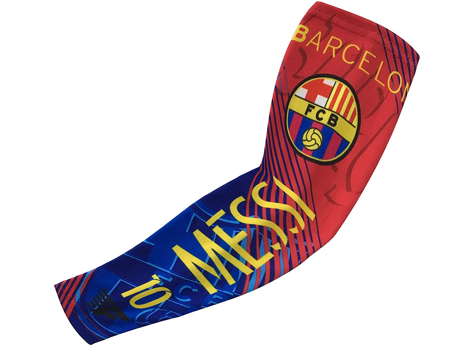 b05a303c5 Get Quotations · Forever Fanatics Barcelona Messi  10 Soccer Fan  Compression Arm Sleeves ✓Breathable Apparel ✓ Muscle