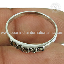 Gleaming black cz rings 925 sterling silver jewelry wholesale exporters fine jewelry rings