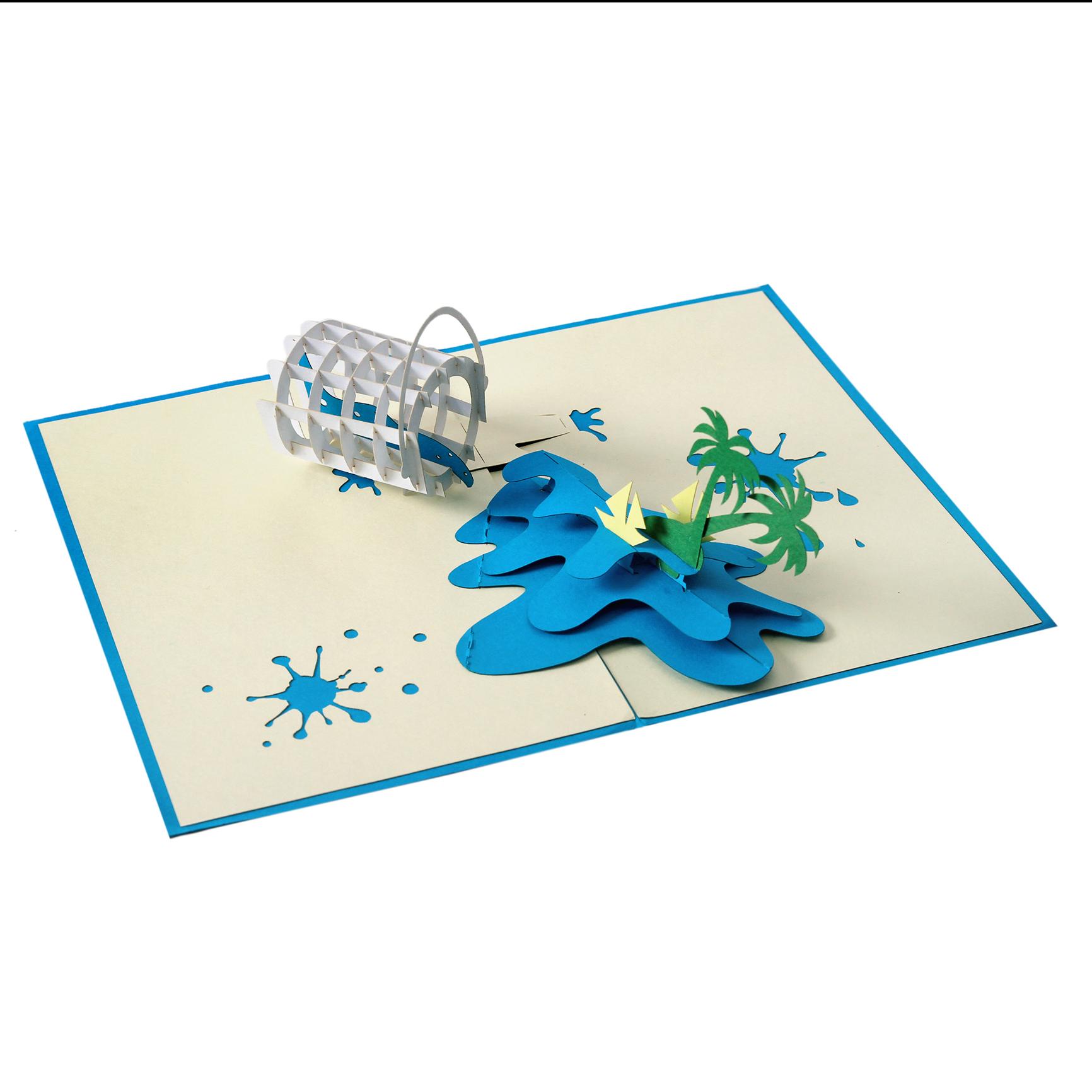 डी ग्रीटिंग कार्ड पॉप अप प्यार कार्ड/निमंत्रण/उपहार/जन्मदिन/कार्ड के साथ आवृत