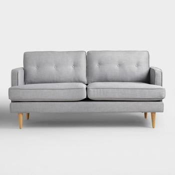 Cheap Scandinavian Sofa With Fabric And Teak Wood