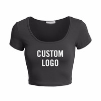 OEM Factory Price Custom Printed Best Quality Women Crop Top Shirts