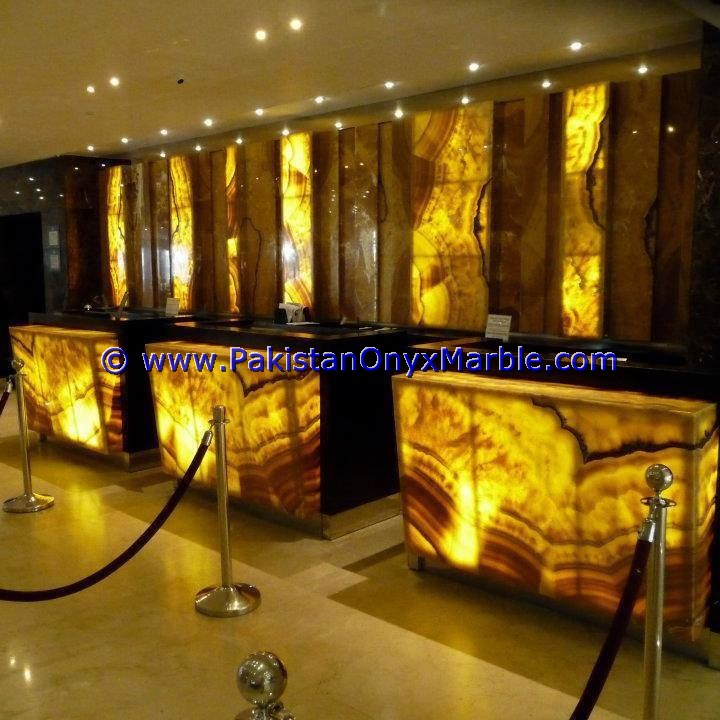 TOP QUALITY NEW PRICE BACKLIT ONYX COUNTER TOPS BAR RECEIPTIONS